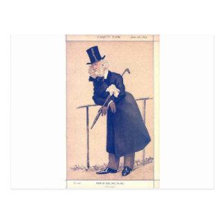 Caricatura do Sr. Washington Hibbert James Tissot Cartão Postal
