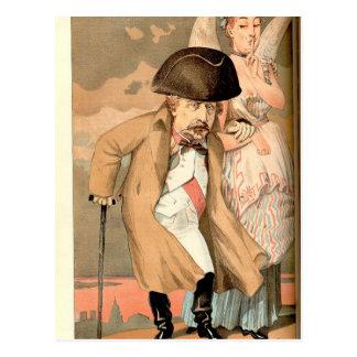 Caricatura dos soberanos No.10 de Napoleon III Cartão Postal