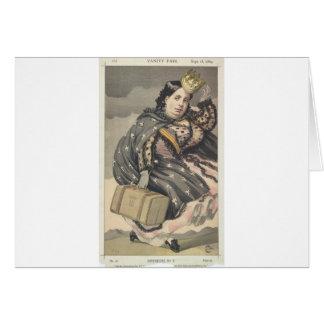 Caricatura dos soberanos No.20 de Isabella II Cartão Comemorativo
