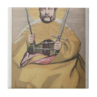 Caricatura dos soberanos No.40 de Alexander II Azulejo Quadrado Pequeno
