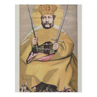 Caricatura dos soberanos No.40 de Alexander II Cartão Postal