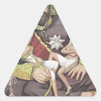 Caricatura dos soberanos No.50 da sultão Abdul Adesivo Triangular