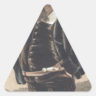 Caricatura dos soberanos No.70 do vencedor Adesivo Triangular