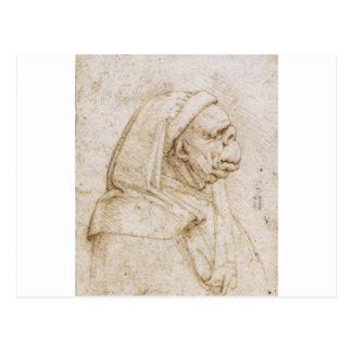 Caricatura por Leonardo da Vinci Cartão Postal