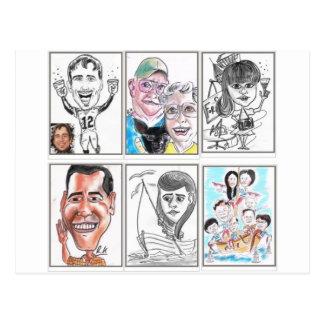 Caricaturas Cartão Postal