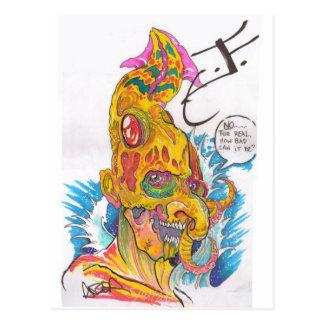 Caricaturas elementares do DEB - Justin como a Cartão Postal