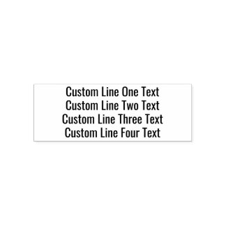 Carimbo Auto Entintado Adicione seu texto favorito - quatro linhas Sans