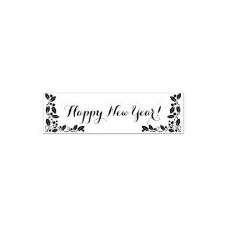 Carimbo Auto Entintado O feliz ano novo