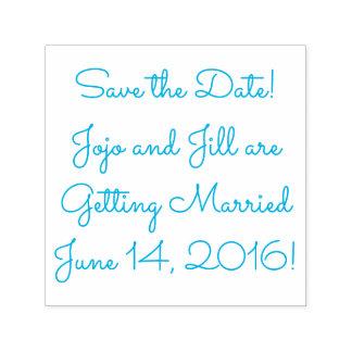 Carimbo Auto Entintado Salvar a data sua data conhecida (do casamento)