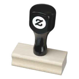 """Carimbo De Borracha 1"""" x 2,5"""" selo de madeira da arte"""