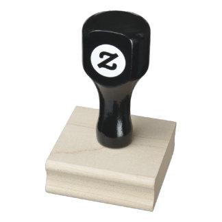 """Carimbo De Borracha 2"""" x 2"""" selo de madeira da arte"""