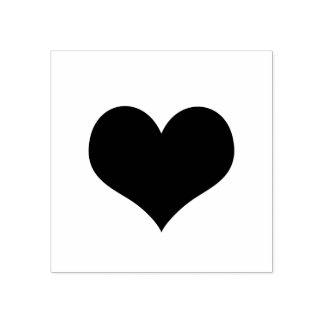 Carimbo De Borracha Amor romântico moderno simples do coração