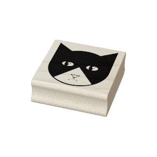 Carimbo de borracha bonito do gato do vampiro dos