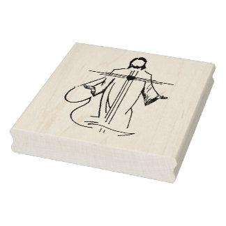 Carimbo De Borracha Coração do selo da arte da ilustração de Jesus