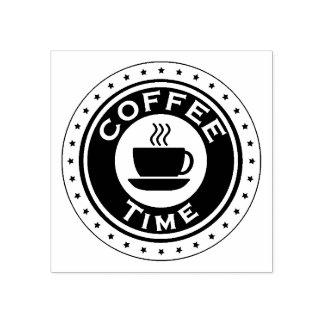 Carimbo de borracha do tempo do café