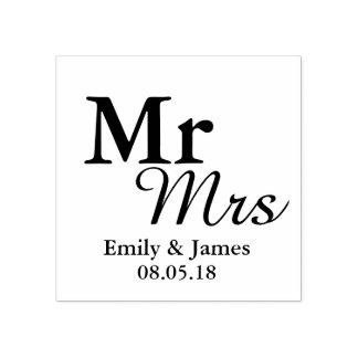 Carimbo De Borracha Favor elegante simples do casamento da tipografia