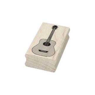 Carimbo De Borracha Guitarra acústica