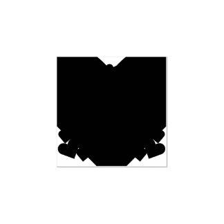 Carimbo De Borracha Madeira bonito do artesanato da arte dos corações