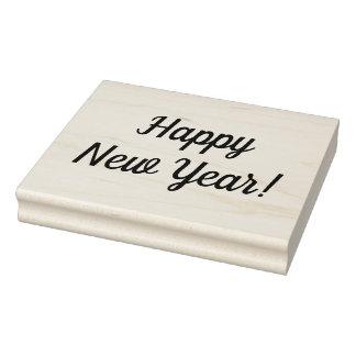 Carimbo de borracha montado do feliz ano novo