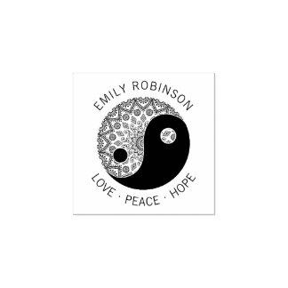 Carimbo De Borracha Nome do costume da esperança da paz do amor de Yin