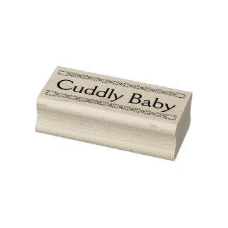 Carimbo de borracha peluches do bebê, selo novo do