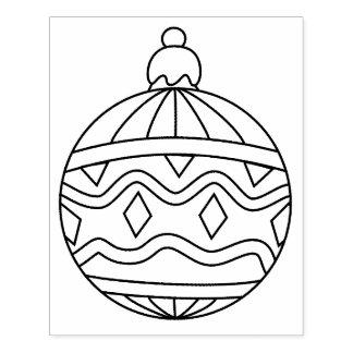 Carimbo de borracha redondo da forma do ornamento