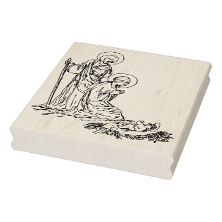 Carimbo De Borracha Selo da arte da ilustração de Jesus do bebê da