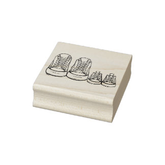 Carimbo De Borracha Selo novo dos calçados de bebê das sapatilhas