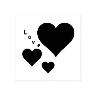 Carimbo De Borracha Três corações e namorados do doce do amor