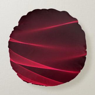 Carmesins abstratos do vermelho do fluxo almofada redonda
