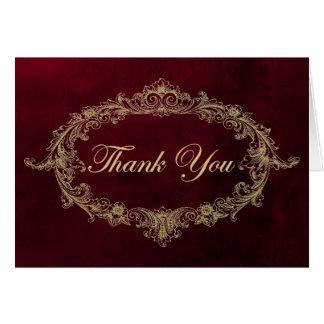 Carmesins & cartões de agradecimentos do ouro