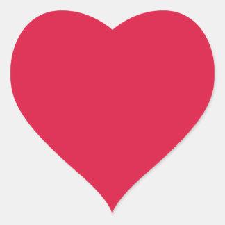 Carmesins contínuos adesivo coração
