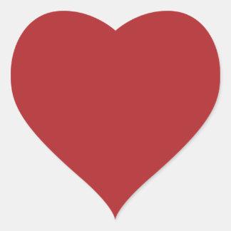 Carmesins de alizarina adesivo em forma de coração
