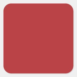 Carmesins de alizarina adesivo em forma quadrada