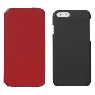 Carmesins de alizarina capa carteira incipio watson™ para iPhone 6
