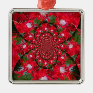 Carmesins estrangeiros bonitos ornamento quadrado cor prata