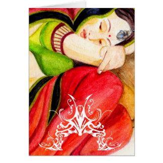 Carmesins indianos cartão comemorativo