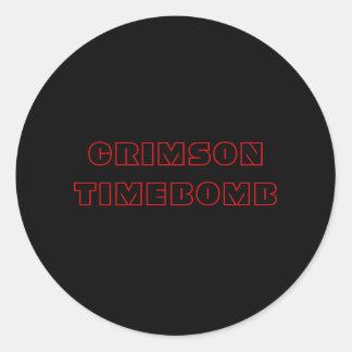 CARMESINS TIMEBOMB ADESIVOS EM FORMATO REDONDOS