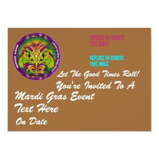 """Carnaval 4,5"""" x 6,25"""" paisagem convite personalizados"""