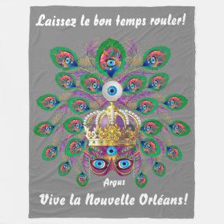 Carnaval Argus lido sobre o design abaixo Cobertor De Lã
