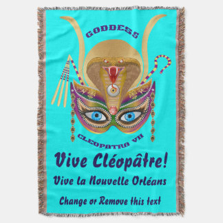 Carnaval Cleopatra VII lido sobre o design abaixo Coberta