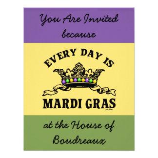 Carnaval customizável convite personalizados