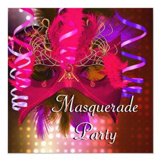 Carnaval do carnaval da máscara do partido do convite quadrado 13.35 x 13.35cm
