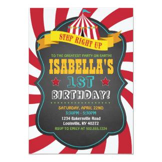 Carnaval ou convite de aniversário do circo