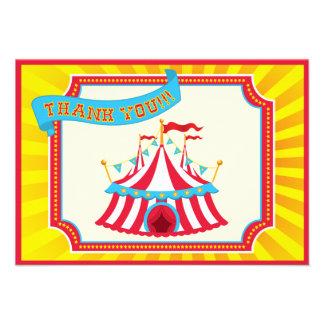 Carnaval ou obrigado da tenda do circus você cartõ convites personalizado