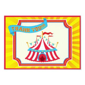 Carnaval ou obrigado da tenda do circus você convite 8.89 x 12.7cm