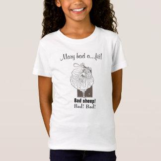 Carneiros maus! Sátira T da rima de berçário Camiseta