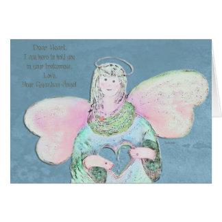 Caro cartão do anjo do coração
