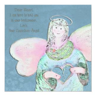 Caro convite do anjo do coração