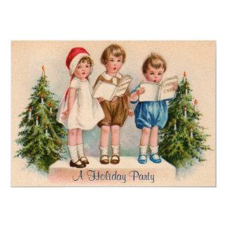 Caroling caçoa o convite da festa natalícia convite 12.7 x 17.78cm